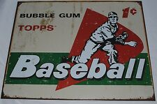 Vintage Replica Tin Metal Sign Topps picture cards box gum 58 baseball ball 1644