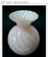 beautiful Art Déco Rosa Opal Glas Vase Opaline Glass Murano Italy 1940s-50s