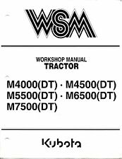 Kubota M4000 M4500 M5500 M6500 M7500 Tractor Workshop Service Repair Manual