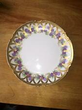 "Antique Limoges 8 3/4"" Hand-Painted Blackberry Plate"