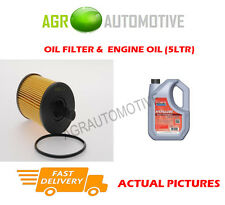 DIESEL OIL FILTER + FS 5W40 ENGINE OIL FOR JEEP PATRIOT 2.0 140 BHP 2007-