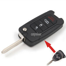 New Uncut Flip Remote Key Fob 3 Button 433Mhz ID46 for Chrysler C300 PT Cruiser