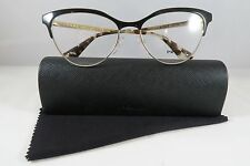 Prada VPR 55S QE3-1O1 Black/Gold New Authentic Eyeglasses 52/16/140mm w/Case