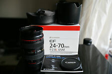 Canon ef 24-70mm F/2.8 l usm zoom lens boxed