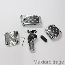 Universal Aluminium Carbon Kit Gear Shift Knob And Pedals Car Tunning