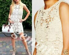 ZARA LIMITED EDITION SIZE M 38 MACRAMÉ CROCHET DRESS MAKRAMEE KLEID STRICKKLEID
