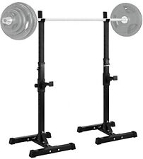 Strength Power Lifting Rack Squat Weight Bench Adjustable Stand Fitness Gym Home