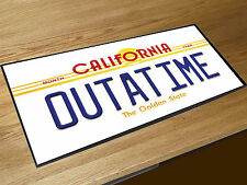 Back to the Future OUTATIME Number plate bar runner Pubs & Cocktail Bars
