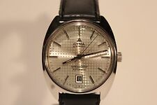 "VINTAGE RARE SWISS ALL STEEL MEN'S AUTOMATIC WATCH""CYMA""BY SYNCHRON CONQUISTADOR"