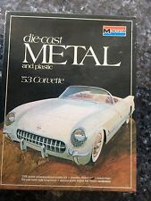 1977 MONOGRAM 53 CORVETTE DIECAST METAL AND PLASTIC MODEL KIT #6100 1:24 SH4C