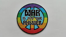 ANTI-WAR CND HIPPIE PEACE SEW ON / IRON ON PATCH:- NAME TO FOLLOW NUMBER 0058