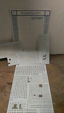 Micro Scale Decals HO 87-80-3 Extended Roman Passenger Car Alphabet & Numbers