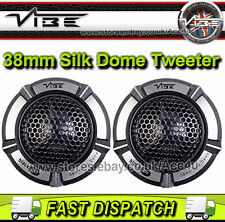 Vibe Audio blackair 1 ba1-v1 180 Watts 38mm Silk Dome coche Puerta Tweeters Set Par
