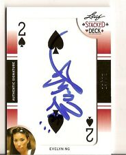 2011 Leaf Poker Stacked Deck Autograph Evelyn Ng Auto /52
