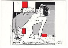 CARTE POSTALE  PIN UP FEMME NU JEUX DE FILLES 2° PARTIE BD ANIMENE ET MIRANDA