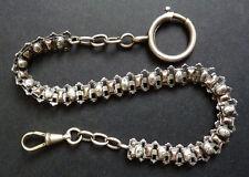 Belle Chaine de montre à gousset argent massif bijou ancien silver watch chain