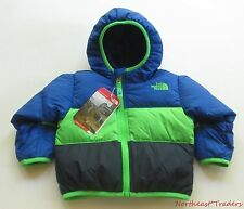 NEW $99 NORTH FACE INFANT REVERSIBLE MOONDOGGY DOWN JACKET 6-12 MONTHS BOYS BLUE