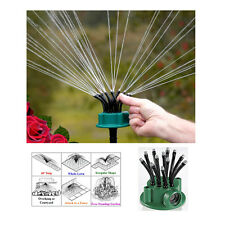 Garden sprinkler with 12 adjustable nozzles - Noodlehead is accurate