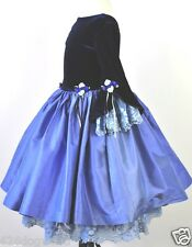 NWOT CASSIE'S CREATIONS COUTURE 7 Blue Silk Lace Formal Dress Wooden Soldier USA