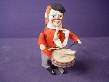 Antique/Vintage German Wind-uo Toy Clown Playing Drum