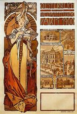 Austria por Alphonse Mucha Art Nouveau de imágenes de gran tamaño póster de A3 & Impresión Gratis Nuevo