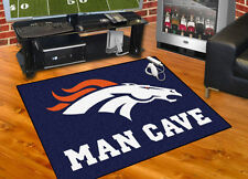 "Denver Broncos NFL All Star Man Cave Area Rug Floor Mat 34"" x 45"""