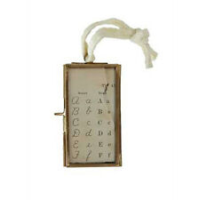 Brass and Glass Vintage Style Photo or Display Frame on a Rope
