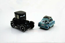 2PCS Disney Pixar Cars 1:55 Diecast Metal Lizzie&DR Professor Z Car Xmas Toy