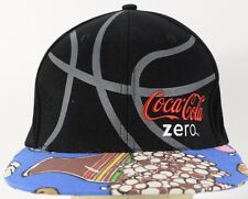 Coca Cola Zero Black Baseball Hat Cap with Fitted Stretch Band