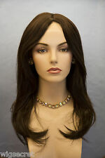 Brunette Long Straight Hand Tied Wigs