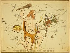 PAINTINGS DRAWING STAR MAP HERCULES CROWN CONSTELLATION ART POSTER PRINT LV3134