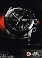 Publicité advertising 2012 La Montre Oris Artix GT Chronographe