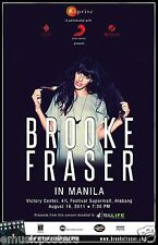 "BROOKE FRASER ""IN MANILA"" 2011 PHILIPPINES CONCERT TOUR POSTER - Pop Music"
