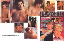 PLAYGIRL 3-85 NY Men HAIRY DREW JAMESON PARKER BOY GEORGE MARCH 1985 CELEBS NUDe