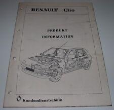 Technische Information Renault Clio I Typ 57 Schulungsunterlage Oktober 1990!