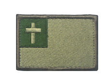 cross Christ Badge USA MILITARY ISAF TACTICAL MORALE HOOK & LOOP Patch  HS 683