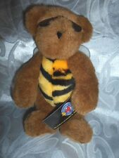 "Friend For Life Buzz Bumble Bee Teddy Bear 9"" Plush Soft Toy Stuffed Animal"