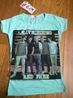 Green One Direction Top T-Shirt Sizes / Ages 7 - 8, 9- 10, 11-12, 13