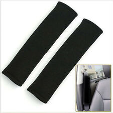 2pcs Child Car Safety Seat Belt Shoulder Pads Cover Cushion Harness Black Pad