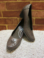 "i LOVE COMFORT BROWN LEATHER ""DELORES"" SZ 9.5M  638"
