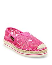 JUICY COUTURE PINK KATEY ESPADRILLE FLATS $89.00 SIZE 9 BNWT