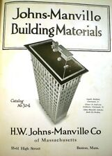 JOHNS-MANVILLE Building Materials ASBESTOS Skyscraper