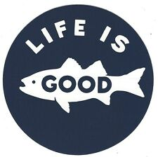 """NEW LIFE IS GOOD 4"""" STICKER DECAL...FISHING!!"""