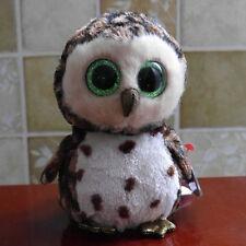 "ty beanies boos Owl Sammy stuffed animal toy mint 6"""