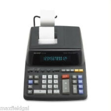 NEW Sharp EL2196BL desk calculator, 12 digit, 2 Color, tax function+, w/warranty