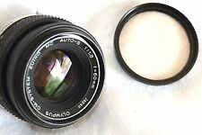 OLYMPUS ZUIKO f1.8 50mm PRIME LENS OLYMPUS OM FIT OR DSLR's WITH CORRECT MOUNT