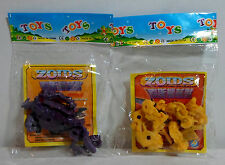 ZOIDS VTG 80's LOT OF 2 MINI FIGURES STILL SEALED IN FACTORY BAG MOSC RARE