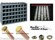 Grade 8 Bolt, Lock Nut, Washer, Assortment / Kit 1500 pcs + 40 Slot Storage Bin