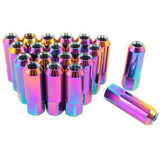 NEO CHROME JDMSPEED EXTENDED FORGED ALUMINUM TUNER RACING LUG NUTS M12X1.25 60MM