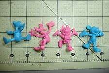 Mickey Mouse, Minnie, Donald Duck & Goofy Plastic ruber Figures-Japan